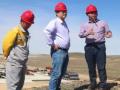 中铁二十三局集团第六工程有限公司总经理王峰一行莅临喀五项目部指导工作